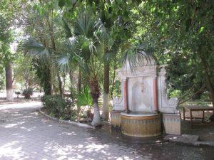 Fontaine à l'intérieur du jardin
