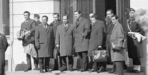 Leaders algériens ayant négocié l'indépendance.
