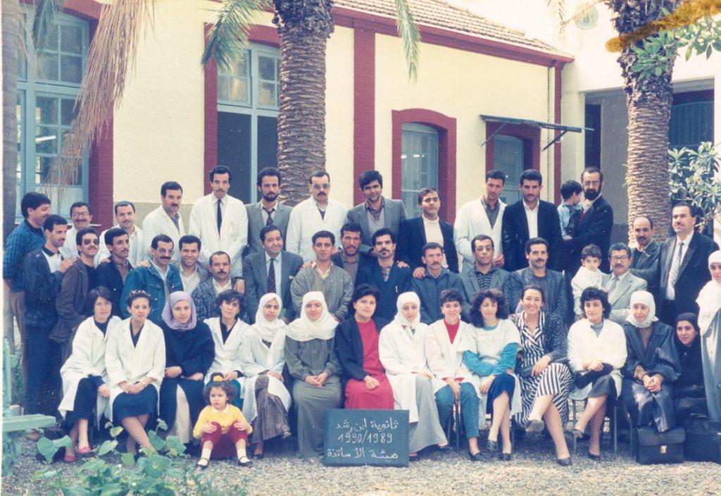 Profs du plus ancien lycée de Blida, le lycée Ibnou Rochd